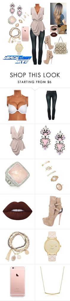 """""""SmackDown Live"""" by caidenisabelle10 ❤ liked on Polyvore featuring Kaporal, YOANA BARASCHI, Erickson Beamon, Valentino, Sho, Forever 21, Lime Crime, Christian Louboutin, DesignSix and Kate Spade"""