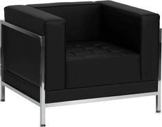 HERCULES Imagination Series Contemporary Black Leather Chair with Encasing Frame, ZB-IMAG-CHAIR-GG by Flash Furniture | BizChair.com