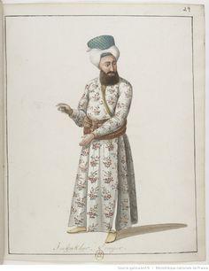 İmrahor-[Recueil. Dessins originaux de costumes turcs : un recueil de dessins aquarelles]