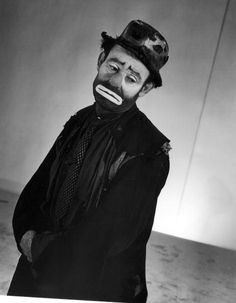 Portrait of circus clown Emmett Kelly