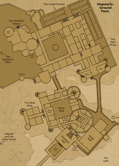 Theorized floor plan of Hogwarts Castle Hogwarts- Ground Floor by Hogwarts-Castle