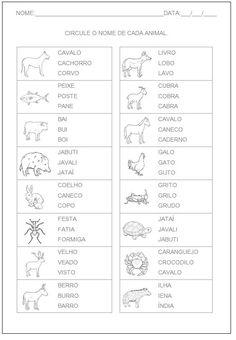 Hipótese+de+Escrita+Silábica+Alfabética+-+Circule+o+nome+do+animal.JPG (564×814)