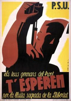 T´Esperen (1936/7) Lithograph poster by Lorenzo Goñi. Imperial War Museum Spanish Civil War Poster Collection