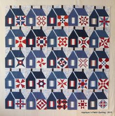 Applique 'n Patch Quilting: Houses are blocked