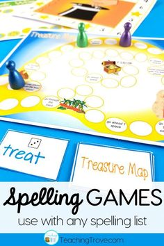 Spelling games and activities are a fun way to help motivate your elementary students to learn their spelling words and can be used with any spelling word list.  #spellinggames #spellingactivities