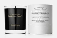 Baxter of California & Saturdays NYC collaborate on a beautifully packaged candle entitled, Santalum + Cedrus. Via Acquire