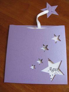 Sobre con estrellas para invitacion de cumpleaños Quince Invitations, Birthday Invitations, Birthday Cards, Wedding Invitations, Origami Paper Art, Paper Crafts, Invitation Design, Invitation Cards, Card Sentiments