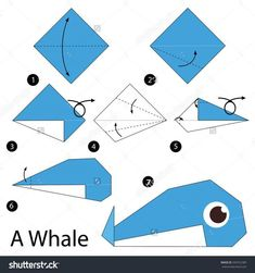 Origami frog shape is origami animals easy. Make this frog origami with your mother's children. Play the frog with the index finger, look at the origami frog jump. Origami Design, Origami Simple, Easy Origami For Kids, Instruções Origami, Origami Star Box, Origami Dragon, Origami Fish, Origami Bookmark, How To Make Origami