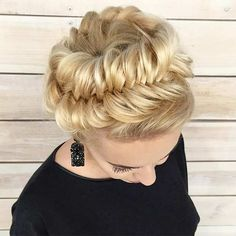 Fishtail Crown Braid Updo