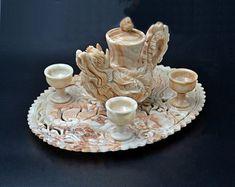 Asian Tea Sets, Wood Owls, Tea Cart, Soapstone, Vintage Wood, Punch Bowls, Tea Pots, Unique Gifts, My Etsy Shop