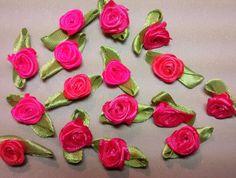 RR-116, $1.25, Hot Pink Ribbon Roses