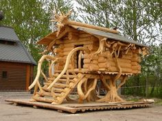 now this would be a cool playhouse in the yard for the grandkids! (or even an adult getaway!)