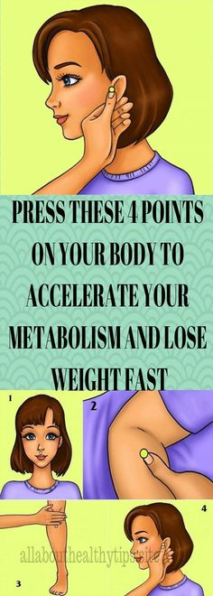 PRESS THESE 4 POINTS ON YOUR BODY TO ACCELERATE YOUR METABOLISM AND LOSE WEIGHT FAST
