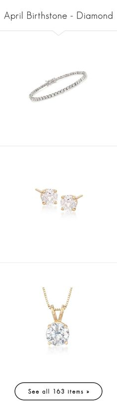"""April Birthstone - Diamond"" by rosssimons ❤ liked on Polyvore featuring jewelry, bracelets, white gold, diamond jewelry, white gold diamond bangle, diamond jewellery, white gold diamond jewelry, white gold bangle, earrings and yellow gold"