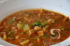 Recept Gulášovo-dršťková polévka z hlívy ústřičné - Gulášovo-dršťková polévka z hlívy ústřičné