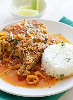 Caribbean-style King Fish [cumin, garlic, hot pepper, turmeric, juice of lime, onion, roma tomatoes, tomato paste, thyme, cilantro, etc]