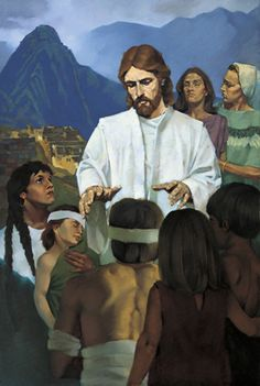 Book of Mormon. Jesus heals the Nephites.
