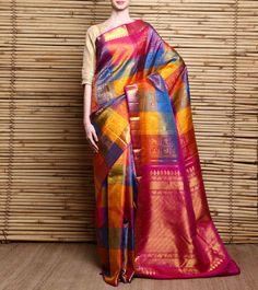 Gaja Mayur Pure Silk #KanjivaramSaree #Indianroots #flipkart