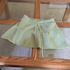 Delia's Green Mini Skirt Sweatshirt material mini skirt with drawstring. And elastic waist. Delia's Skirts Mini