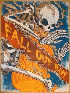 2013 Fall Out Boy - Fall Tour Silkscreen Poster by James Flames