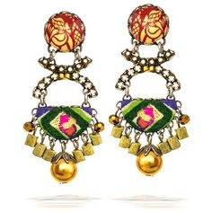 Ayala Bar Earrings, Winter 2012 Collection, Golden Sunrise Color Group - 17241