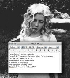 Marina and the diamonds black&white teen idle soft grunge Marina And The Diamonds, Diamonds Lyrics, Lambrini, Electra Heart, Fear Of Love, Quotes White, The Ugly Truth, All I Ever Wanted, Lonely Heart