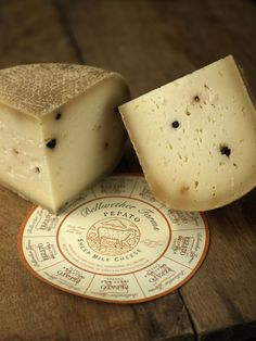 Pepato, an aged sheep milk cheese studded with peppercorns, made by Bellwether Farms, located in Petaluma, California.