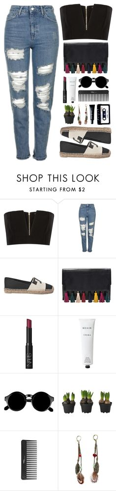 """""""Simple Outfit #50"""" by rizkafathi ❤ liked on Polyvore featuring Balmain, Topshop, Tory Burch, Rebecca Minkoff, NARS Cosmetics, Rodin Olio Lusso, Retrò, Sephora Collection, ...Lost and Giorgio Armani"""