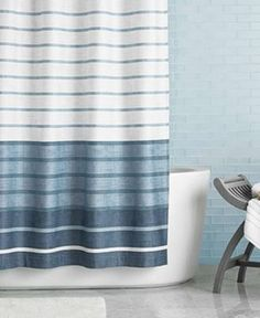 Harbour Stripe Shower Curtain | Striped Shower Curtains, Curtain Accessories  And Bath