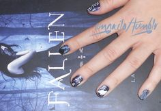 Book inspired nail art