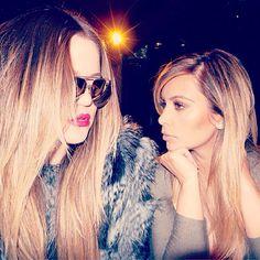 Khloe and Kim Kardashian shared a glamorous photo together on Instagram on Monday, Oct. 7.