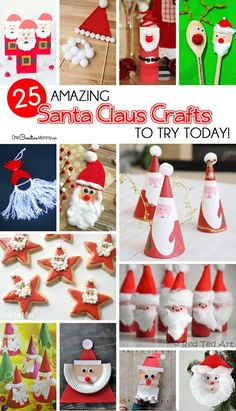 Do It Yourself Houseboat Strategies - Building Your Own Houseboat 25 Amazing Santa Claus Christmas Crafts To Make With Your Kids Today These Are All So Cute. I Can't Decide Where To Start Santa Crafts, Christmas Crafts For Kids To Make, Christmas Activities, Homemade Christmas, Diy Crafts For Kids, Holiday Crafts, Christmas Holidays, Christmas Decorations, Christmas Ornaments