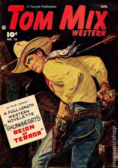 1960s western novels | Tom Mix Western (Canadian Edition) comic books