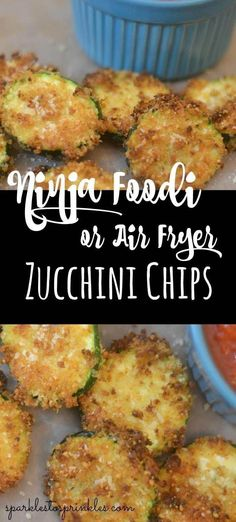Ninja Foodi or Air Fryer Zucchini Chips are so easy to make and delicious. Just another one of the many reasons you need a Ninja Foodi.