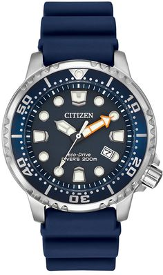 Built with durability in mind, the Men's Citizen Eco-Drive Promaster Professional Watch is the perfect sports watch. Made with a smart and quality deep blue silicone strap and matching dial, this unique watch uses Citizen Eco Drive Movement. Men's Watches, Watches For Men, Citizen Watches, Luxury Watches, Unique Watches, Casual Watches, Citizen Eco, Watch Companies, Watch Brands