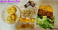 South Beach Diet Phase 1 Meals and Snacks