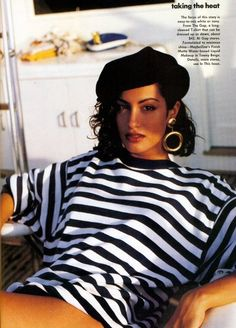 'Taking The Heat' from………….Vogue July 1991 feat Yasmeen Ghauri via http://80s90sredux.tumblr.com/