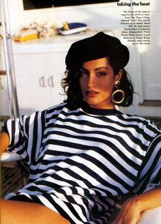 'Taking The Heat' von ………… .Vogue July 1991 feat Yasmeen Ghauri via . 'Taking The Heat' von ………… .Vogue July 1991 feat Yasmeen Ghauri via Style Année 90, Looks Style, Mode Outfits, Fashion Outfits, Fashion Tips, 80s Fashion Style, 80s Style Outfits, Grunge Outfits, Barett Outfit