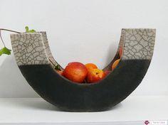 Ceramic Raku Plate  Fruit Bowl by CeramicStudio on Etsy