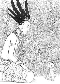 Coloriage Kirikou.11 Meilleures Images Du Tableau Coloriage Kirikou 5 Years Africa