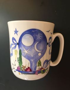 "VILLEROY BOCH LE BALLON MOON STARS MUG 3 5/8""Jean Mercier Hot Air Balloons DISC #VILLEROYBOCH"