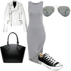 simple by maikehofman on Polyvore featuring polyvore fashion style Diesel Black Gold Converse Ray-Ban
