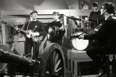 The Beatles' first studio recording in 1962, soon after Ringo Starr joined the band