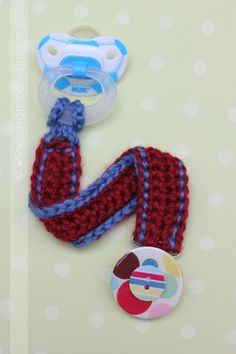 Busy in Brooklyn » Blog Archive » Crocheted Pacifier Clip