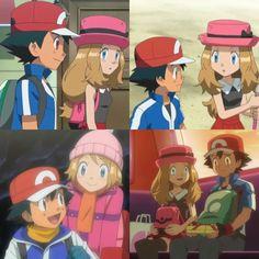 Ash x Serena Pokemon Ash And Serena, Strawberry Lemonade, Pokemon Pictures, Cool Pokemon, Anime Ships, Best Couple, Mystic, Collage, Family Guy