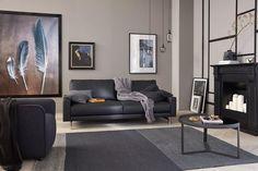 Farbberatung wohnzimmer ~ Rundes sofa schwarzes wohnzimmer set grauer teppich