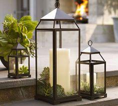 Combine elementos e surpreenda na decoração. #velas #lanterna #suculentas