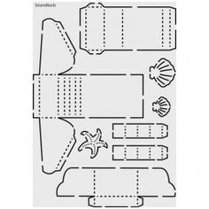 Strandkorb vorlage  Individueller Strandkorb Papiermodell Bastelbogen | Maritim ...