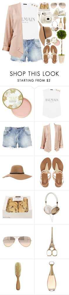 """1381. Trip to Hawaii"" by chocolatepumma ❤ liked on Polyvore featuring Paul & Joe, Balmain, Ksubi, Brixton, Dune, Frends, Ray-Ban and Christian Dior"