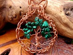 wire wrapped Tree of Life pendant. copper and by TheSeventhOak, $35.00